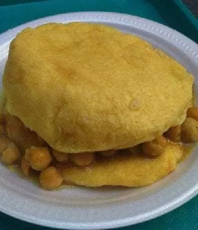 Bindy's serves doubles, a Caribbean staple.