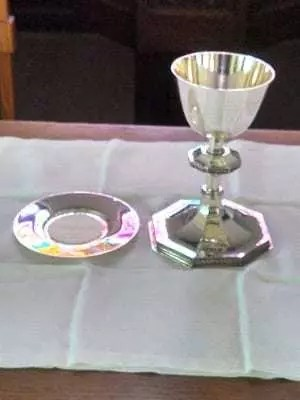 Maundy Mealtime chalice and paten
