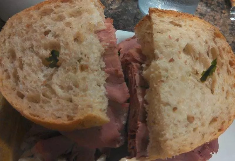 Pastrami sandwich from Nathan Detroiit's