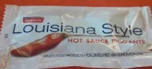 Hot sauce package from Chicken Delight.