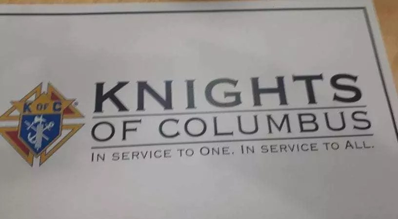 Saint Ignatius Knights of Columbus place mats