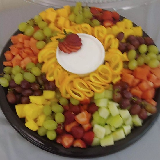 Family Reunion fruit tray.