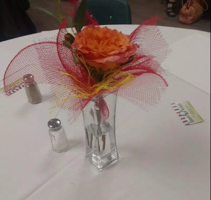 Spaghetti Dinner centerpiece