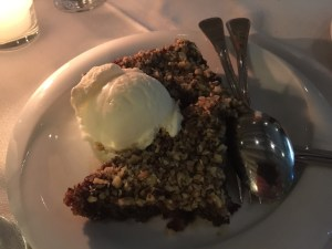 Walnut pie with ice cream - unique and delicious