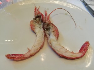 Salt roasted Santa Barbara spot prawn