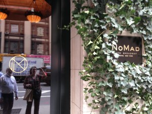 Entrance to the NoMad restaurant in the NoMad Hotel