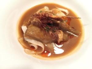 Artichoke and squid stew