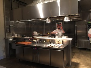 Blanca open kitchen and the chef