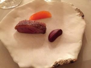 Duck and beet mole