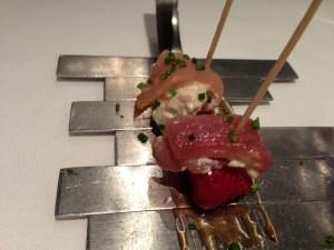 Sardine with strawberry