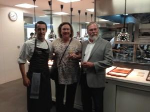 Chef Dani Lasa with us in the kitchen