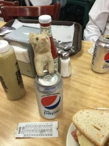 Frankie prefers Coke products!