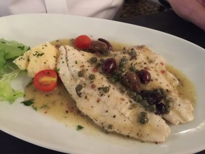 Turbot fillet with Salina capers and ligurian black olives