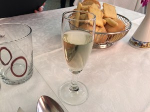 complimentary Proseco