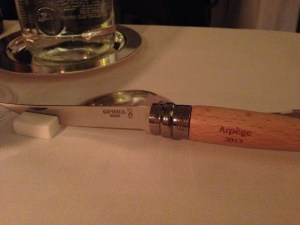 Knives they send you home with (unfortunately we couldn't take it on the plane)