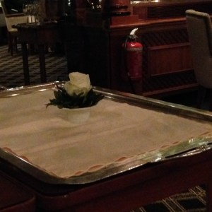 Rose on every serving tray