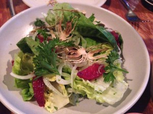 Little gem lettuce, fennel dressing, blood orange