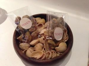Tempura of pistachios
