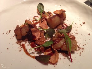 Salsify with wild mushrooms and lemon
