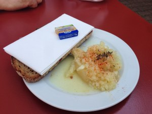 bread, butter and hand cheese
