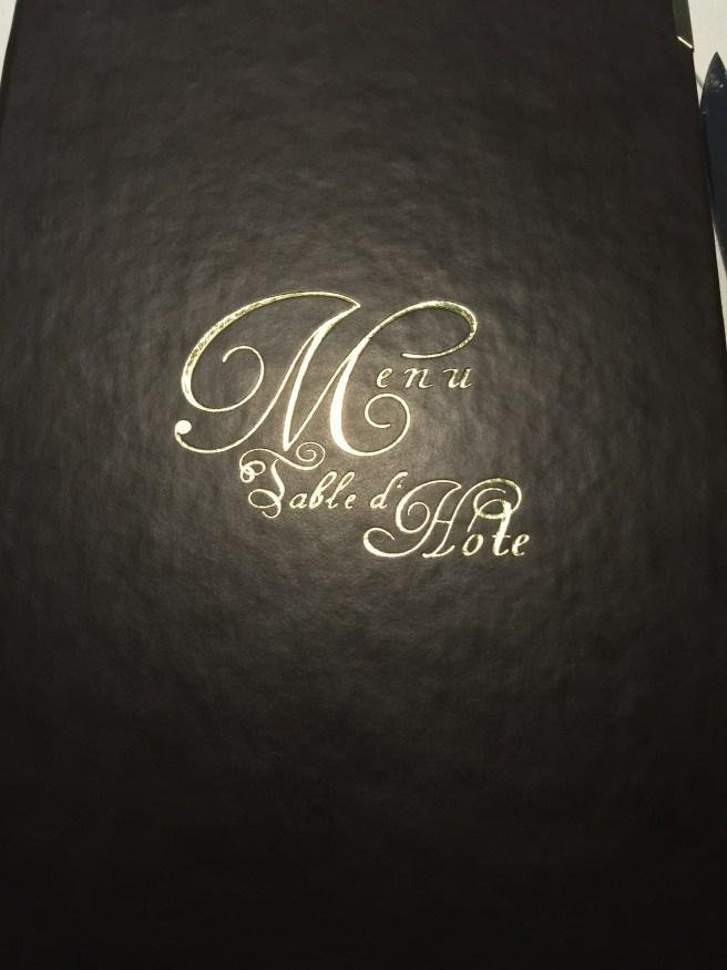 "our ""dinner"" menu"
