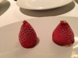 Frozen parmesan strawberry