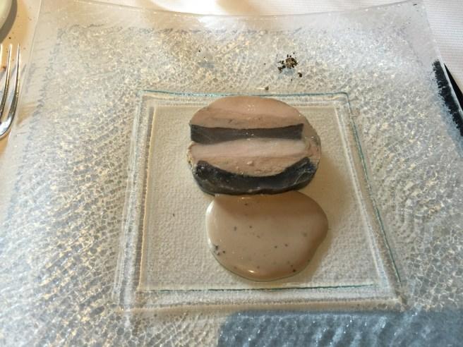 Bresse chicken breast, foie gras and artichoke, truffle dressing