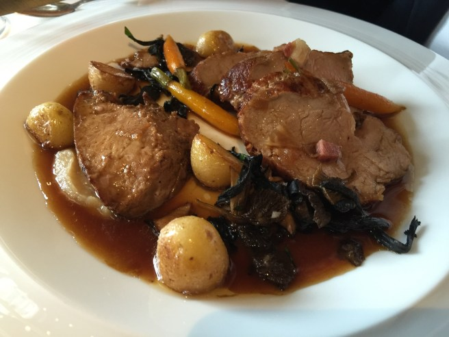 Roasted rump of veal, classic just beneath flaky pastry