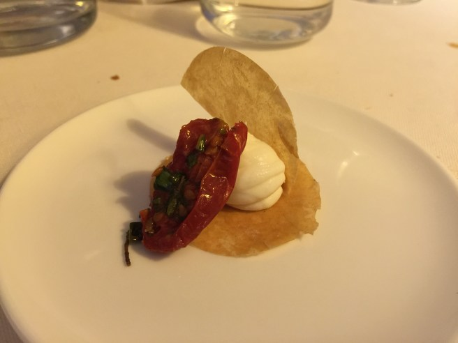 Puff pastry of burrata and tomatoes