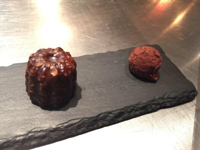 Cannelle; dark chocolate and hazelnut truffle