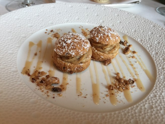 Puffs with hazelnut cream. Wonderful! Pastry part was really tasty