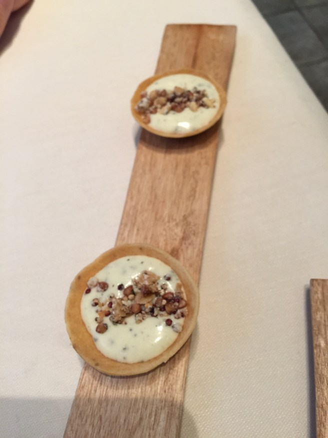 Amuse: parmesan cream with truffle