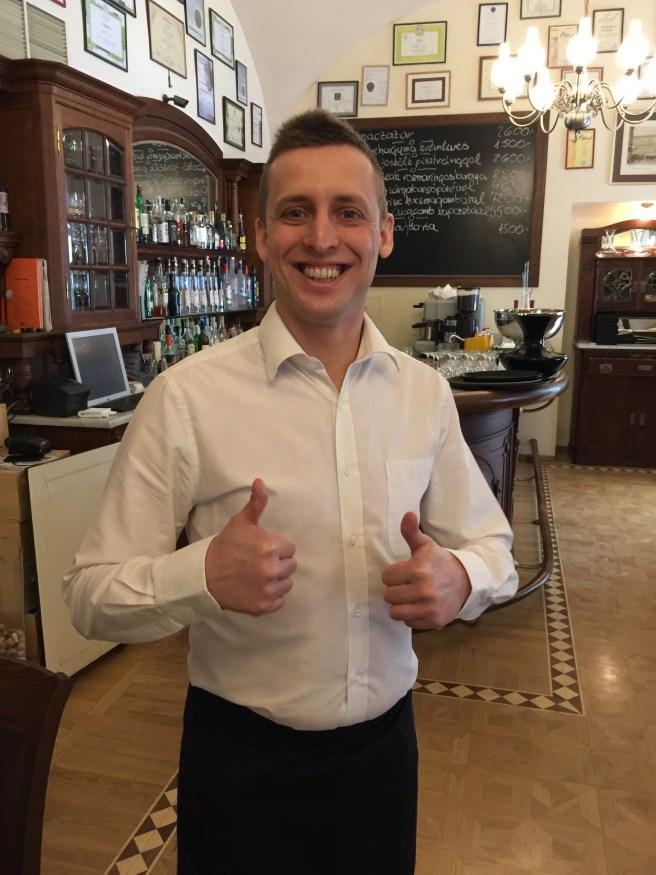 Our wonderful waiter
