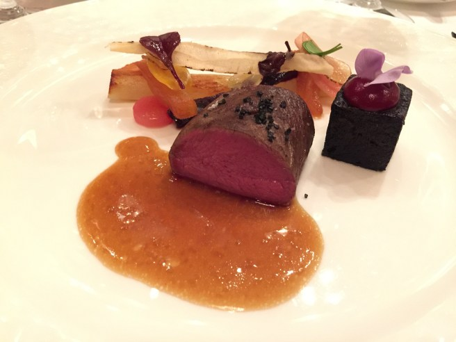 Fawn, beetroot, black pudding
