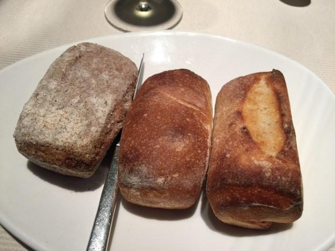 Breads: wheat, potato, white