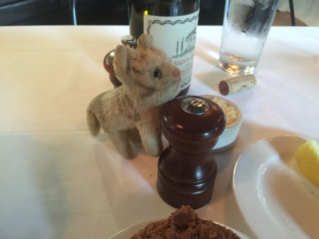 Frankie was pleased to find a pepper mill on the table, as well as salt