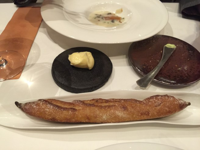 Wholegrain Ficelle and cultured butter