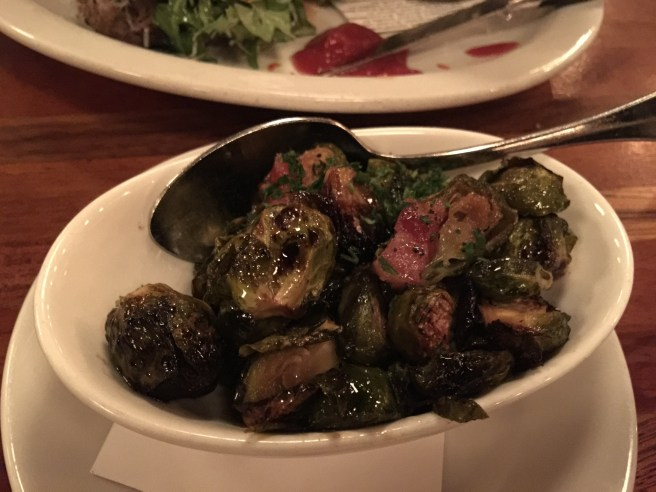 brussel sprouts, pancetta and maple
