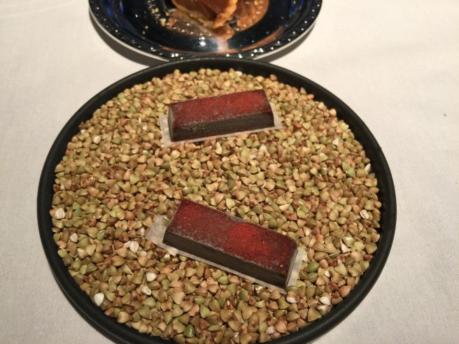 Roasted grains and dried strawberry