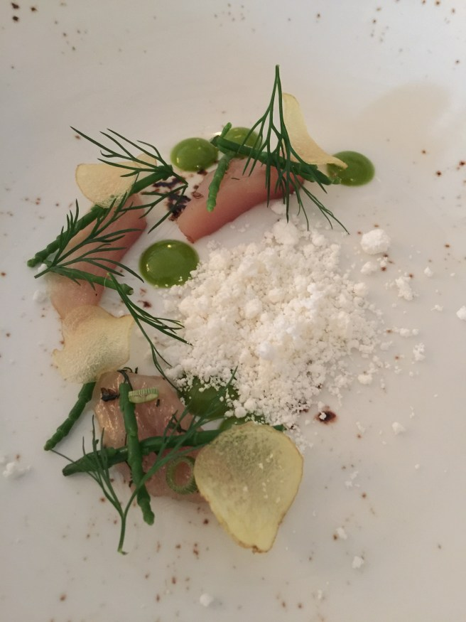 Mackerel with horseradish, dill and passe pier