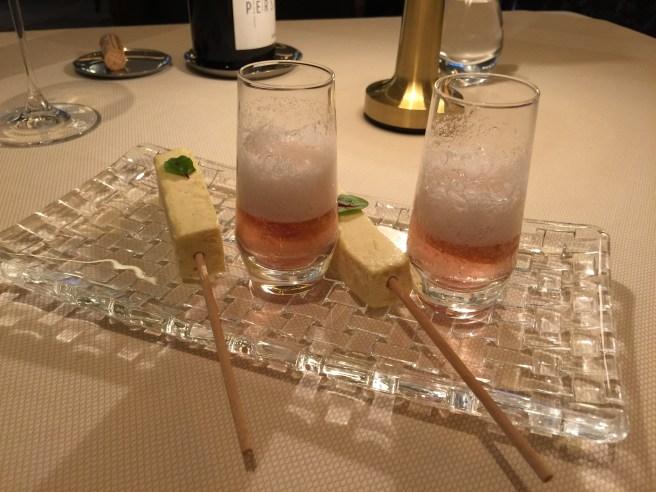 Verbena, sorrel & smoked vanilla ice crream bar