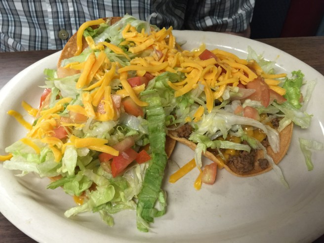 Lunch special #3: Beef chalupa, bean chalupa and guacamole chalupa