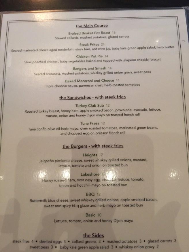 dinner menu 2