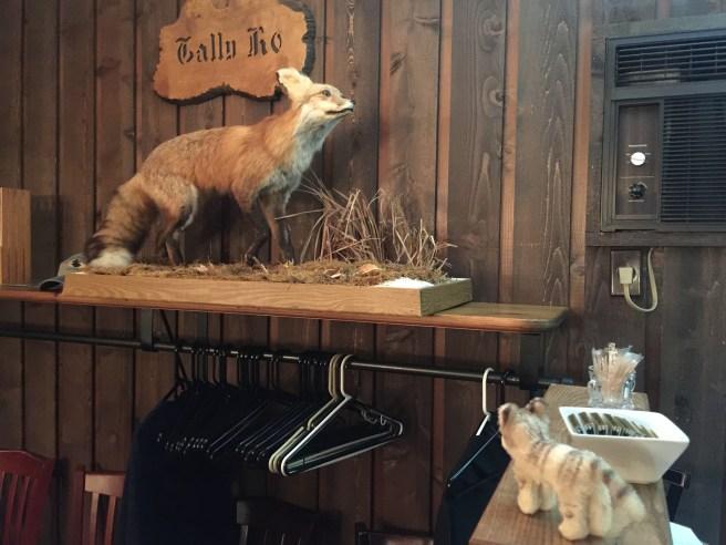 Frankie found a stuffed fox, too!