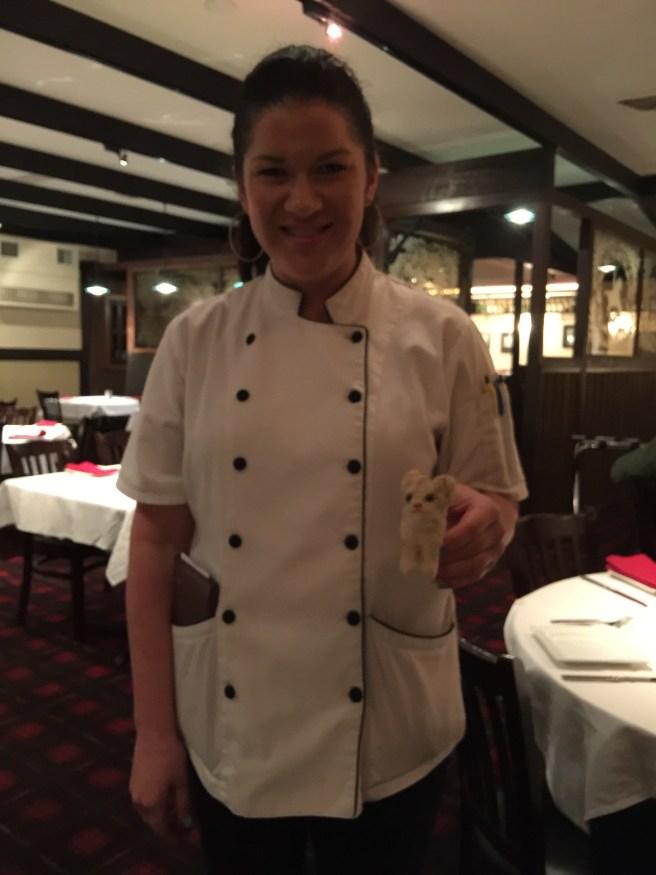 Julie, our waitress met Frankie
