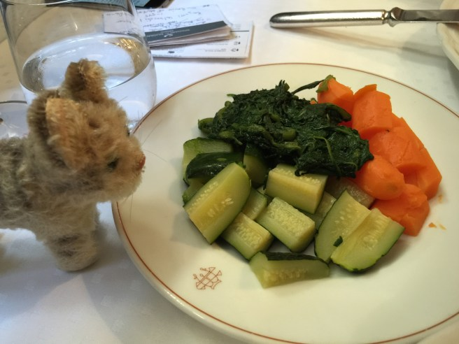 Frankie gave the vegetables a sniff