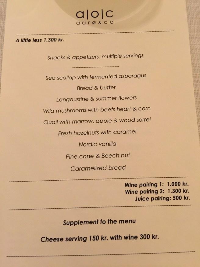 smaller tasting menu