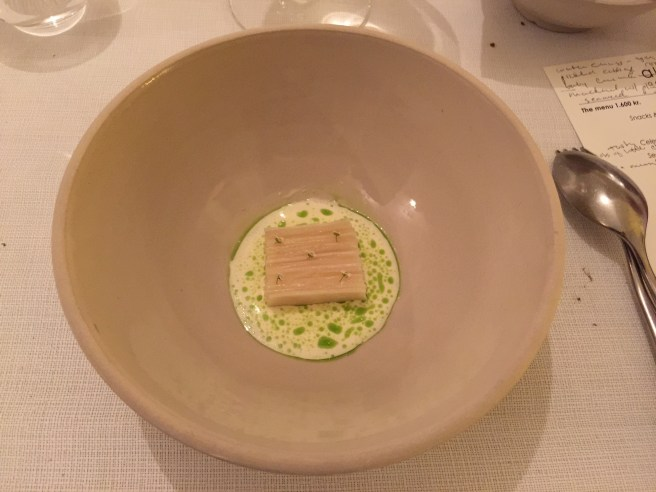 sea scallop with fermented asparagus