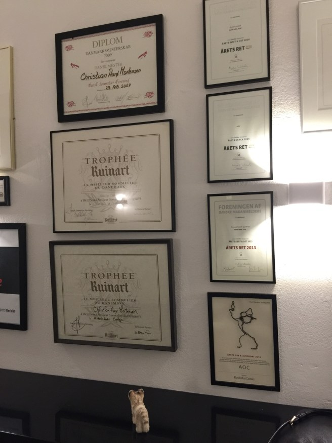 Frankie was impressed with the wall of awards