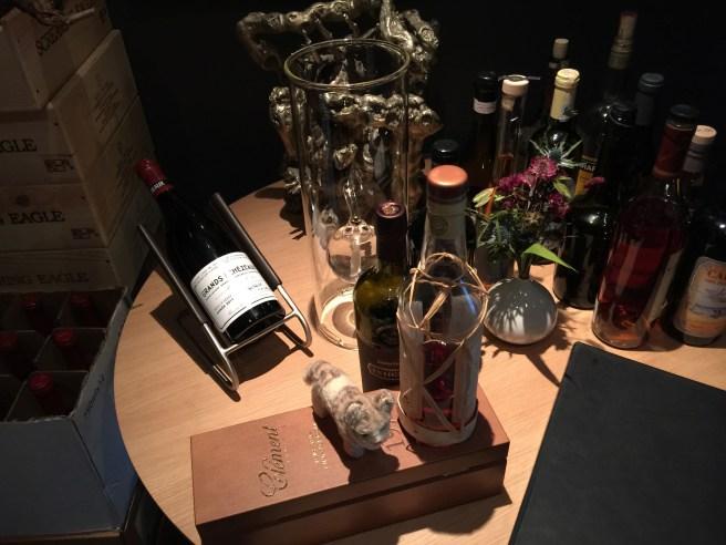 Frankie toured the wine cellar